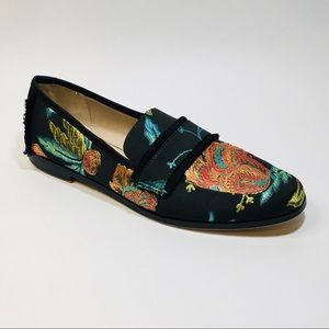 Zara Basic Collection Floral Embroidered Loafers